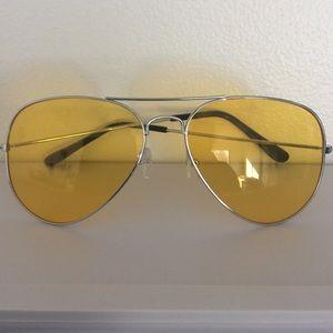Aviator Glasses Yellow Driving Lenses
